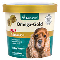 NaturVet Omega-Gold Salmon Oil Dog Chews