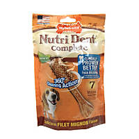 Nylabone Nutri Dent Complete Filet Mignon Flavor Dental Chew for Adult Dogs