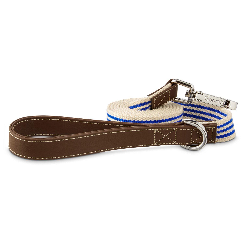 Good2Go Oxford Classic Blue Striped Dog Leash
