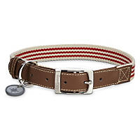 Good2Go Oxford Classic Red Striped Dog Collar