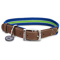 Good2Go Oxford Blue & Green Dog Collar