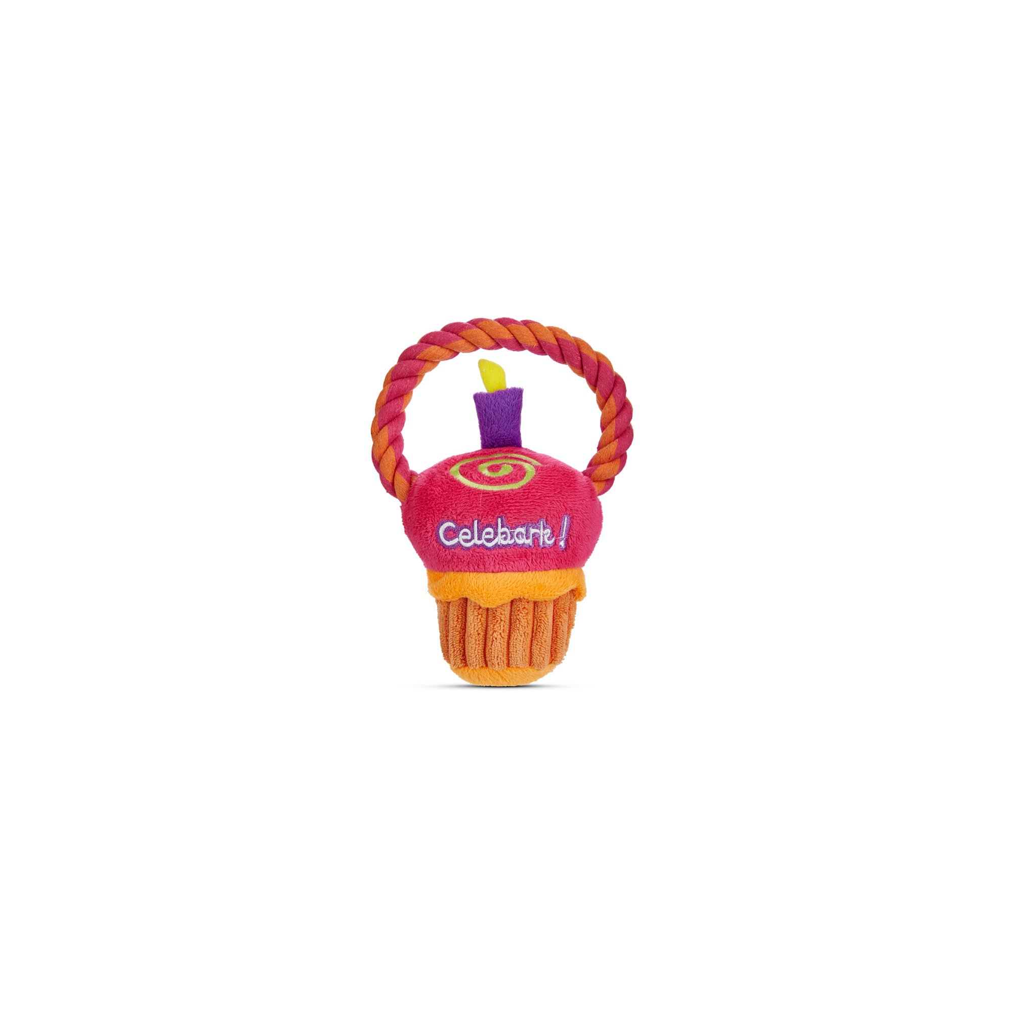 Petco Special Occasions Cupcake with Rope Dog Toy