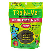 Crazy Dog Train-Me! Grain Free! Minis Training Reward Bacon Dog Treats