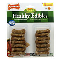 Nylabone Healthy Edibles Roast Beef Flavored Dog Bone Chews