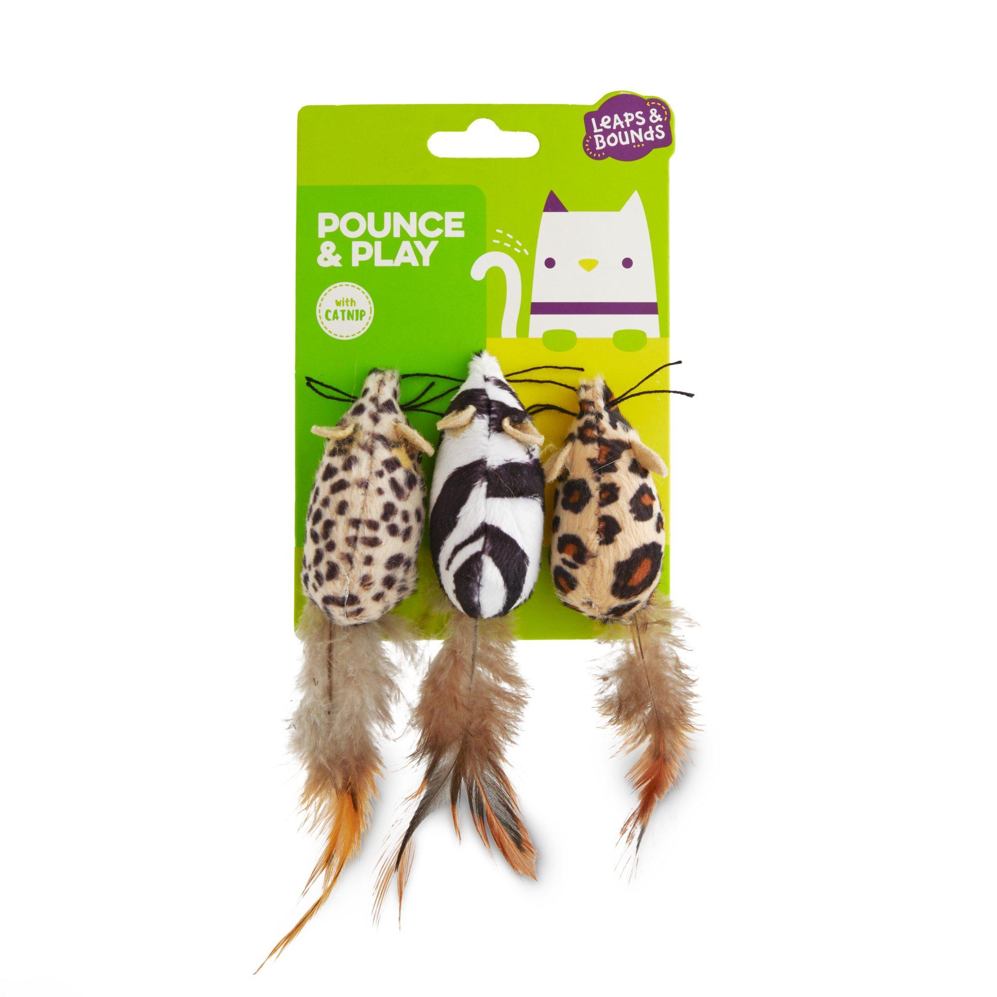 Leaps & Bounds Safari Mice Cat Toys with Catnip