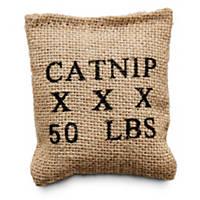 Leaps & Bounds Burlap Bag Catnip Cat Toy