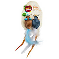 Leaps & Bounds Fancy Mice with Feather Cat Toys with Catnip