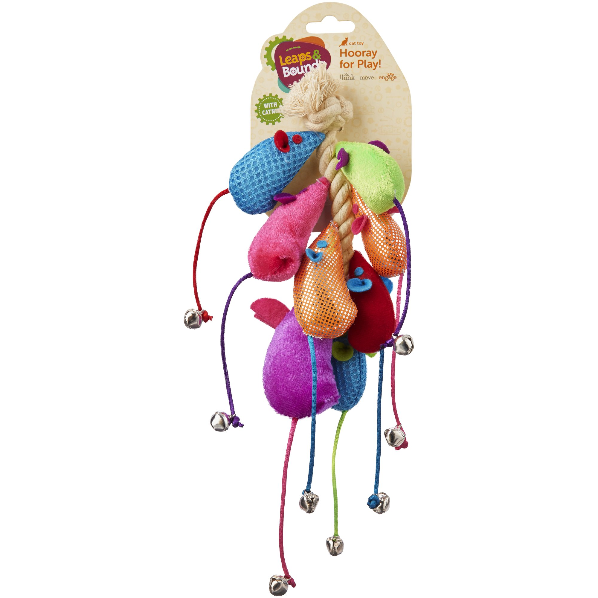 Leaps & Bounds Mice Cat Toys on a Rope