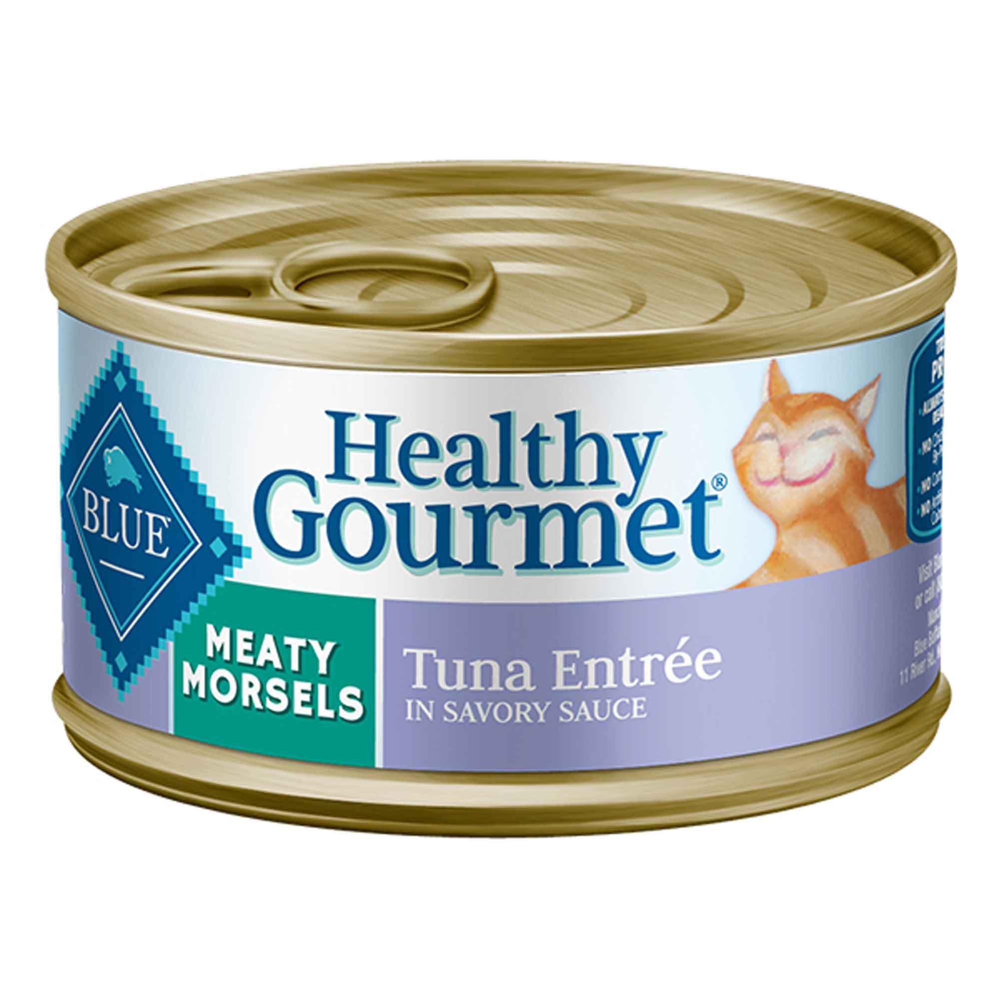 Blue Buffalo Healthy Gourmet Meaty Morsels Tuna Adult Canned Cat Food