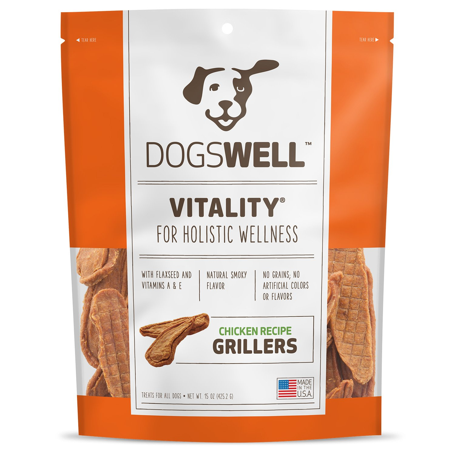 Dogswell Vitality Grillers Chicken Tenders Dog Treats
