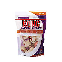 KONG Double Chews Mini Bacon Rawhide Dog Chews