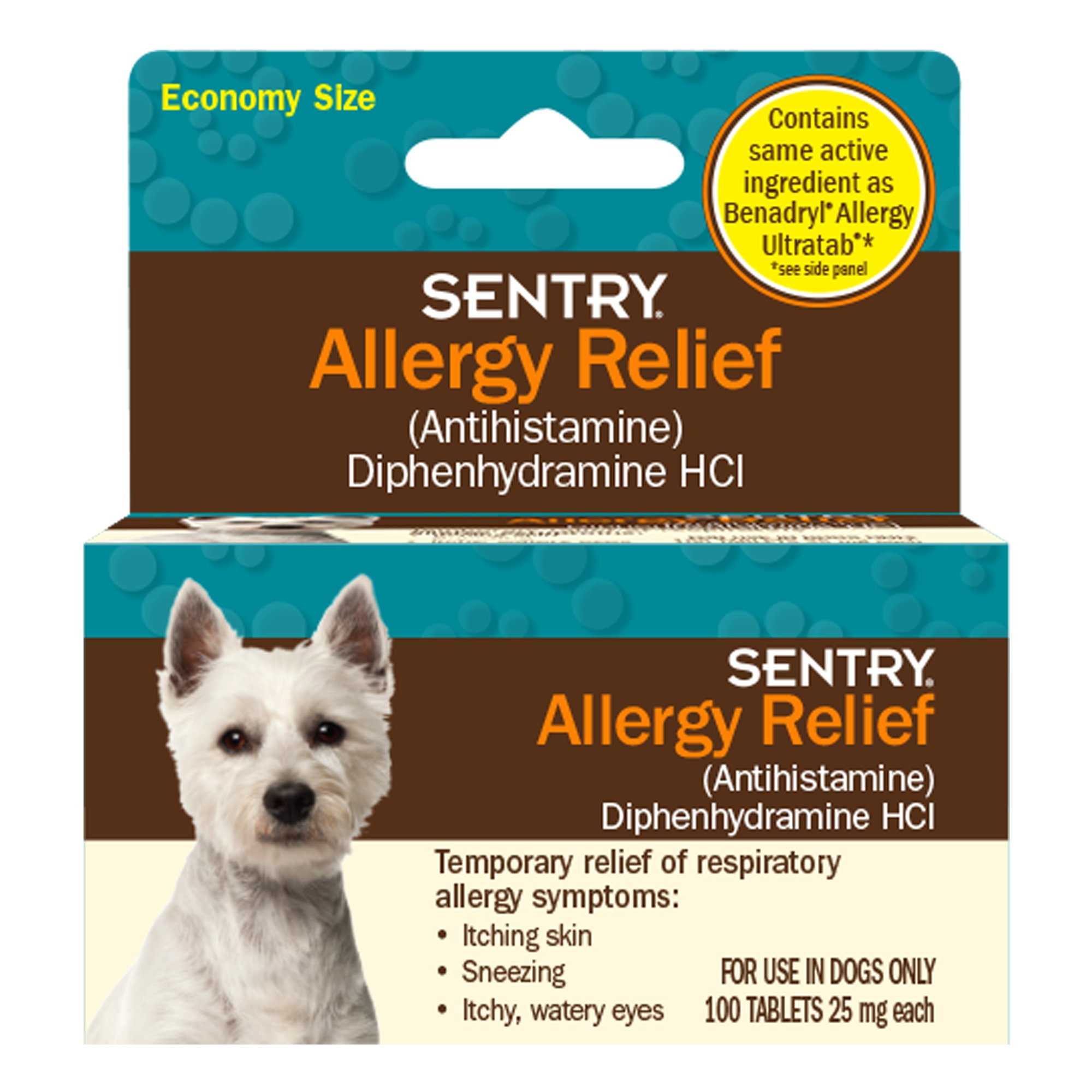 Sentry Allergy Relief Dog Tablets