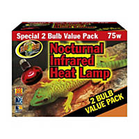 Zoo Med Nocturnal Infrared Heat Lamp, 75 Watts