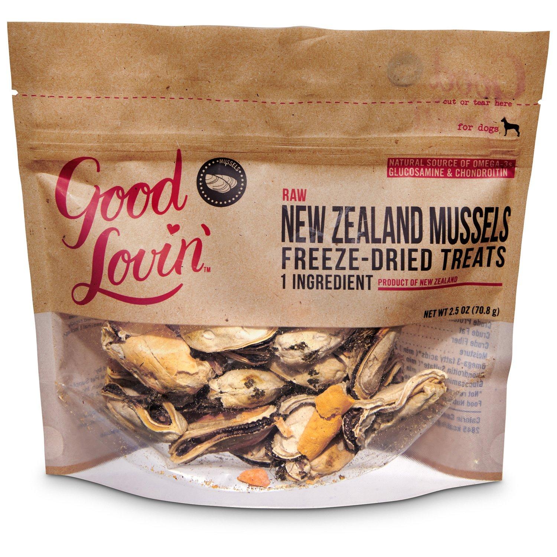 Good Lovin' Raw New Zealand Mussels Freeze-Dried Dog Treats