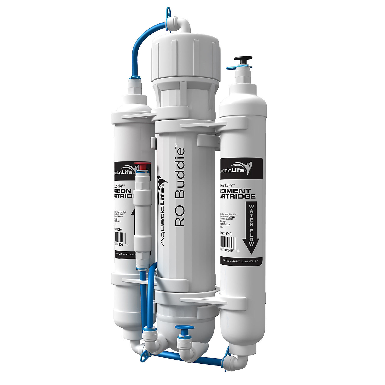 Aquatic Life RO Buddie 3-Stage Reverse Osmosis System, 50 GPD