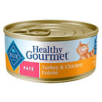 Blue Buffalo Healthy Gourmet Pate Adult Canned Cat Food, Turkey & Chicken
