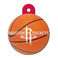 Quick-Tag Houston Rockets NBA Circle Personalized Engraved Pet ID Tag, Large
