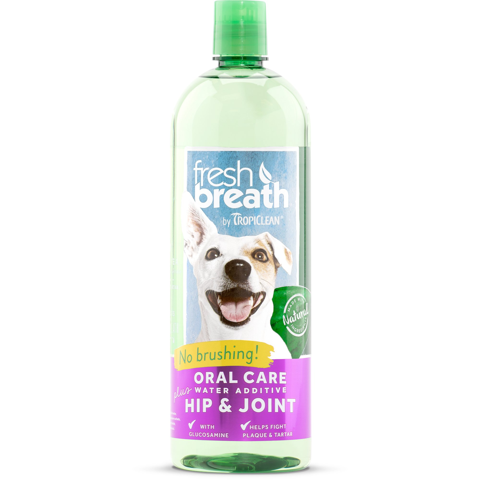 Tropiclean fresh breath plus hip joint oral care water for Dog dental water additive