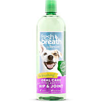 TropiClean Fresh Breath Plus Hip & Joint Oral Care Water Additive for Pets