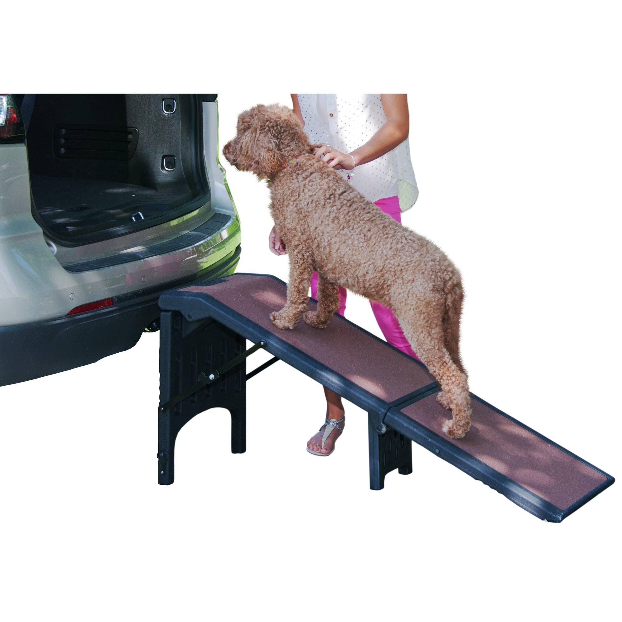 Pet Gear Extra Wide Free Standing Pet Ramp in Chocolate