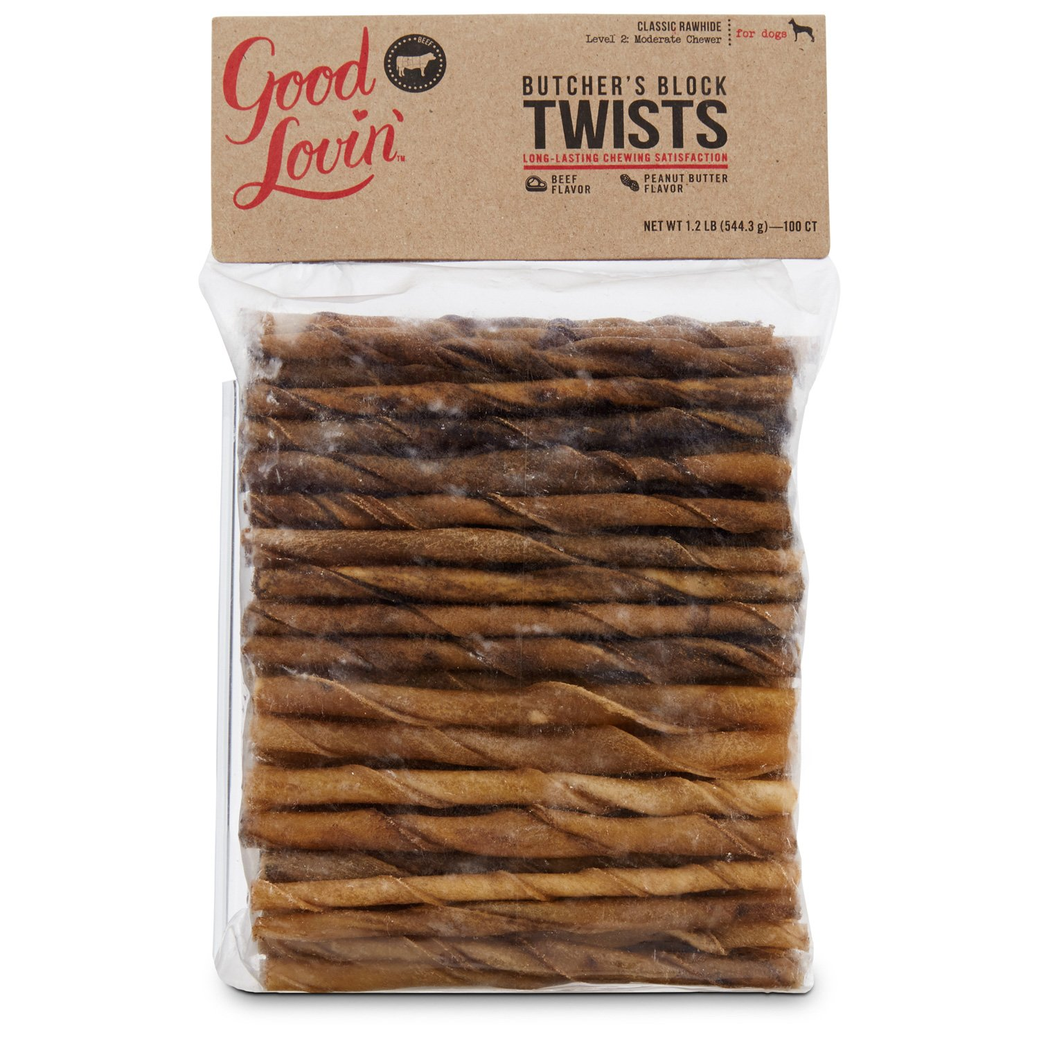 Good Lovin' Beef & Peanut Butter Twists Dog Chews