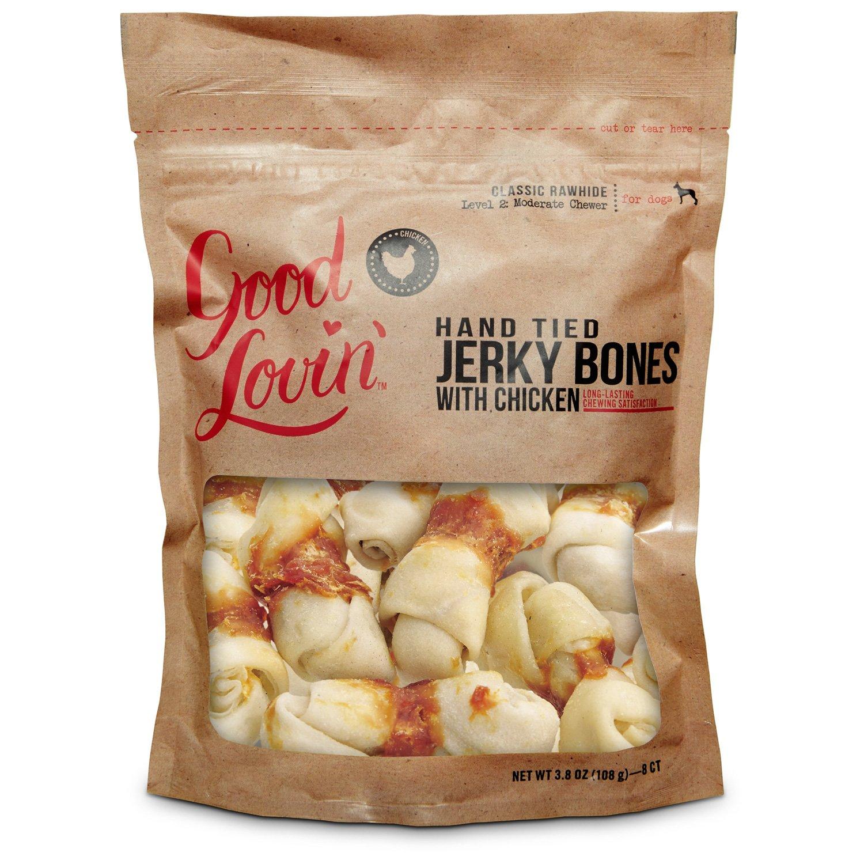 Good Lovin' Hand Tied Chicken Jerky Dog Bones