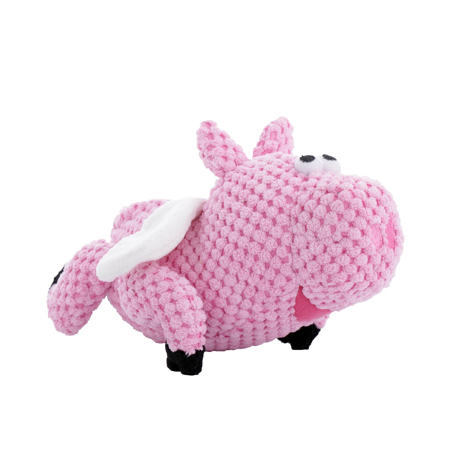 goDog Checkers Flying Pig Dog Toy