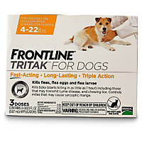 FRONTLINE TRITAK Dog Flea Treatment, For dogs 4-22 lbs.