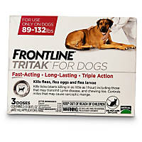 FRONTLINE TRITAK Dog Flea Treatment, For dogs 89-132 lbs.