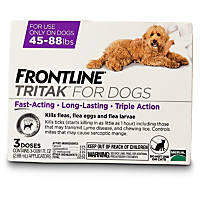 FRONTLINE TRITAK Dog Flea Treatment, For dogs 45-88 lbs.