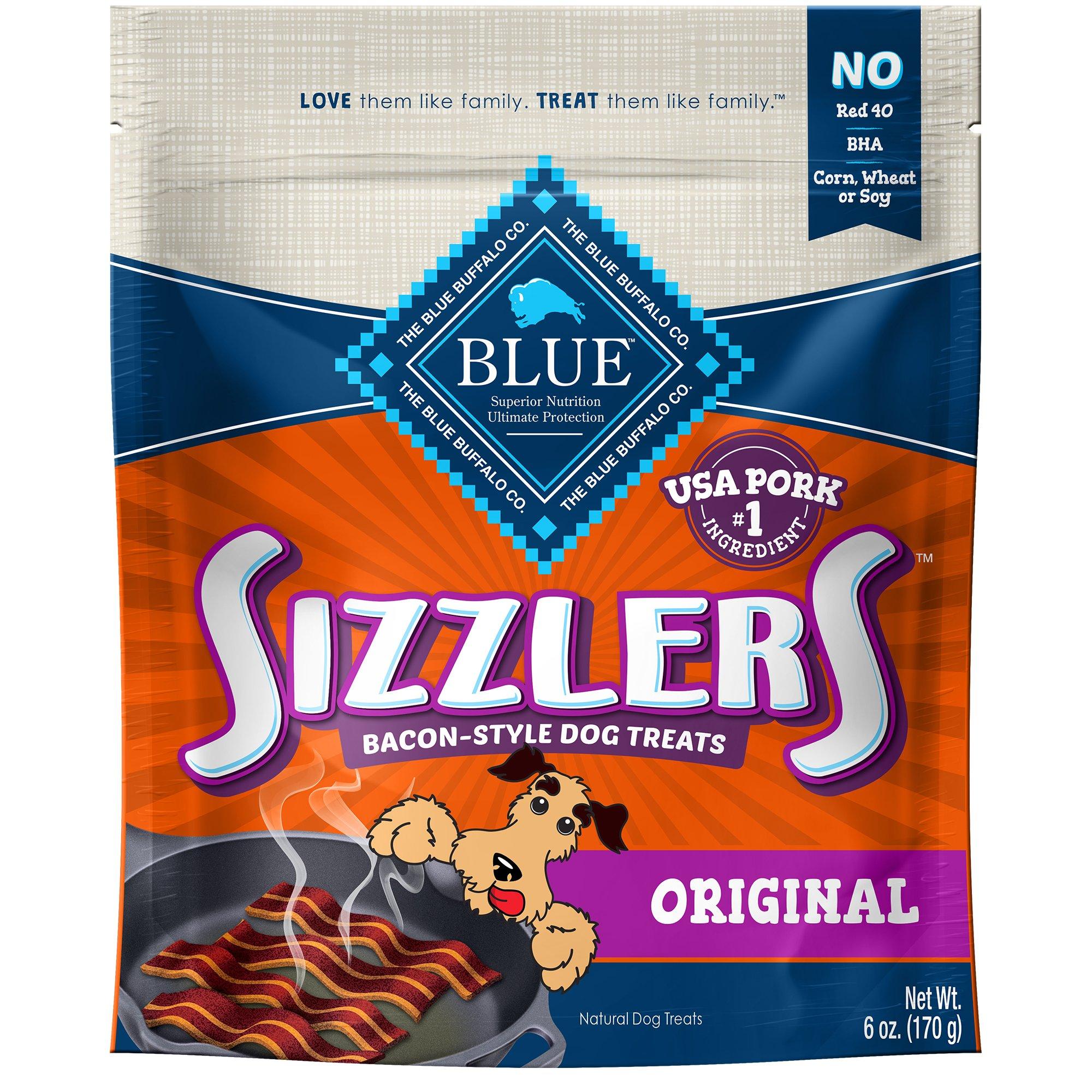 blue buffalo blue sizzlers bacon style dog treats petco With blue sizzlers dog treats