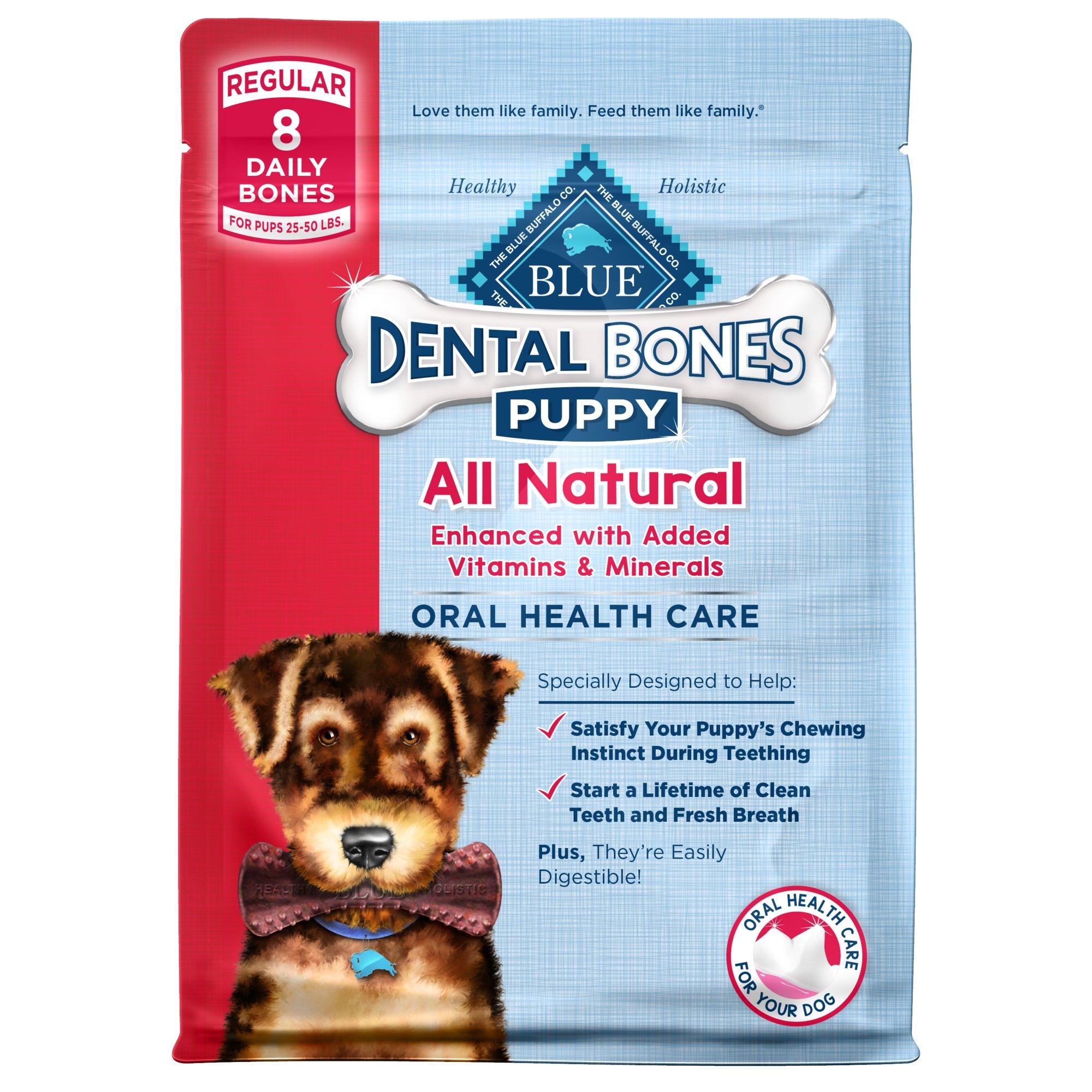 Blue Buffalo Regular Puppy Bones Dental Dog Treats