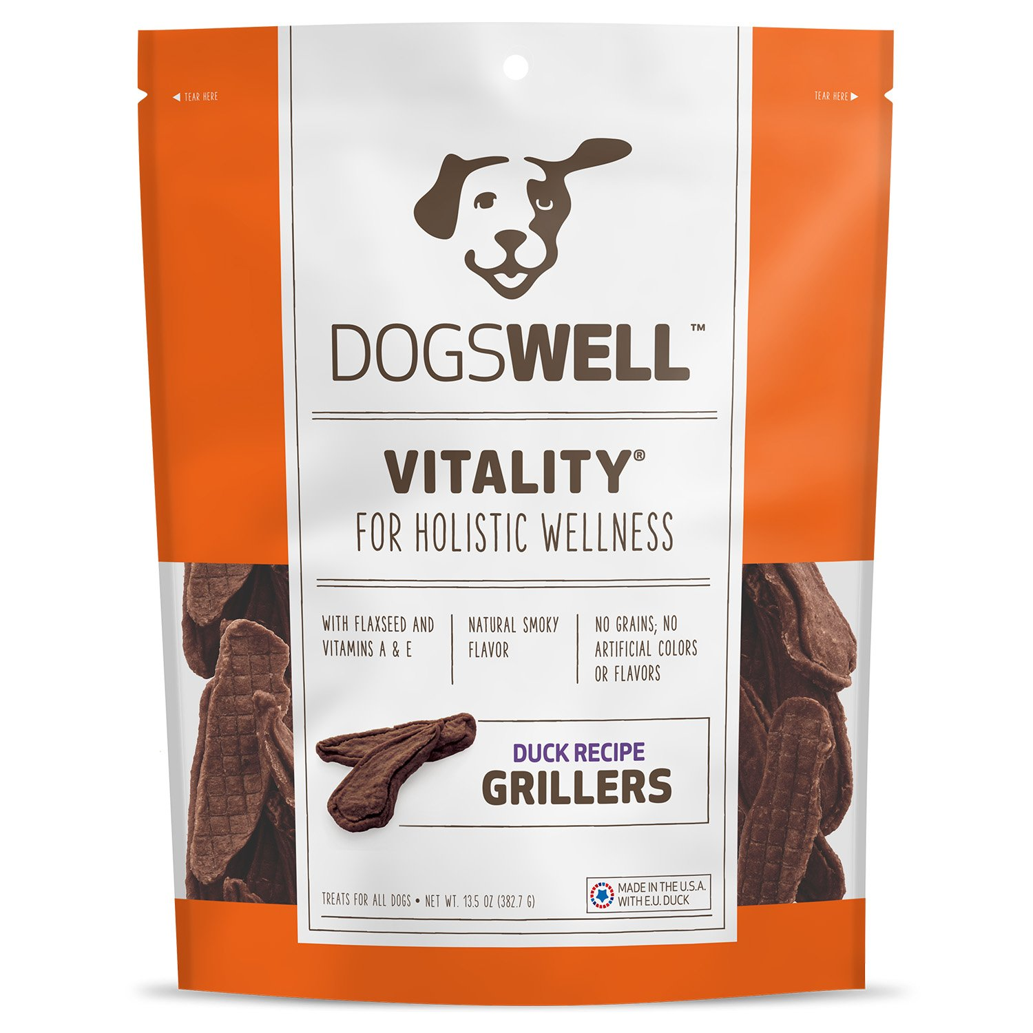Dogswell Vitality Grillers Duck Tenders Dog Treats
