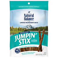 Natural Balance L.I.T. Limited Ingredient Treats Jumpin Stix Chicken & Sweet Potato Dog Treats