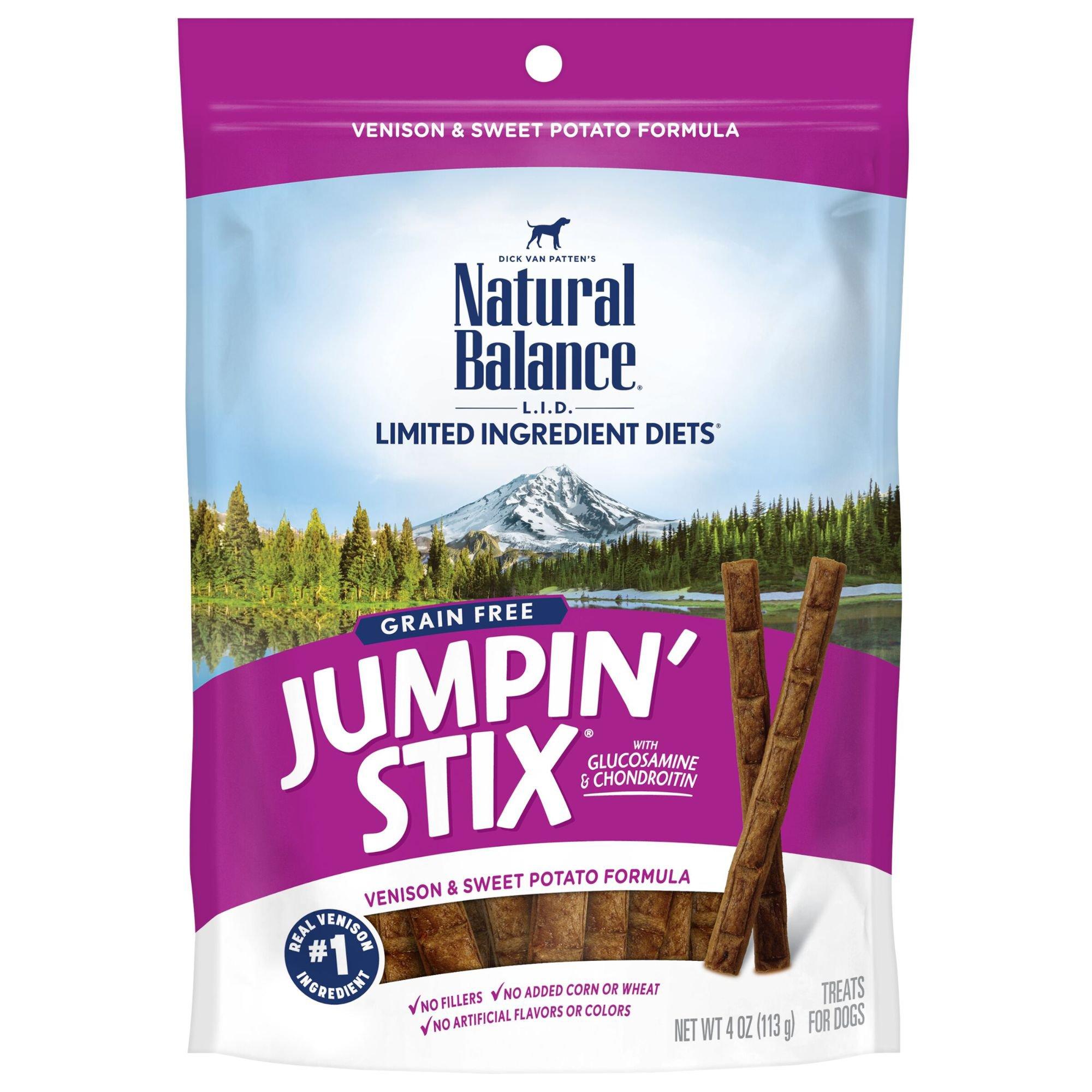 Natural Balance L.I.T. Limited Ingredient Treats Jumpin Stix Venison & Sweet Potato Dog Treats