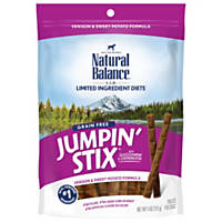 Natural Balance L.I.T. Limited Ingredient Treats Jumpin Stix Venison & Sweet Potato Dog Treats