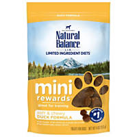 Natural Balance Mini Rewards Duck Dog Treats