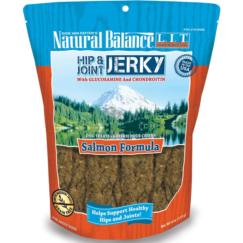 Natural Balance L.I.T. Limited Ingredient Treats Hip & Joint Salmon Jerky Dog Treats