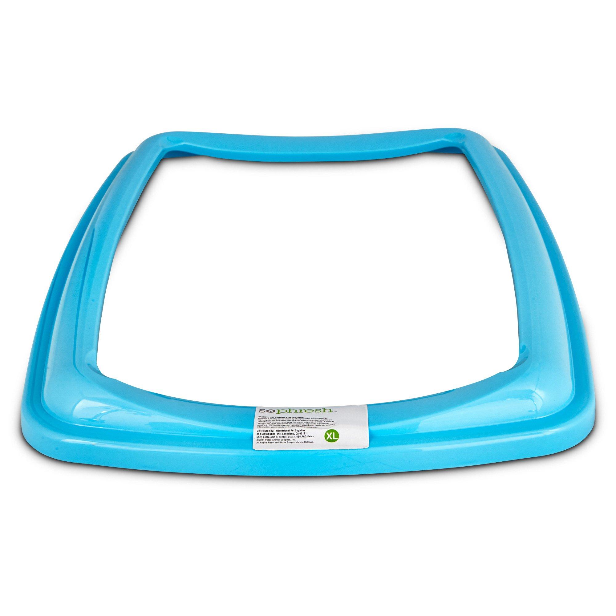 So Phresh Aqua Blue X-Large Open Litter Box Rim