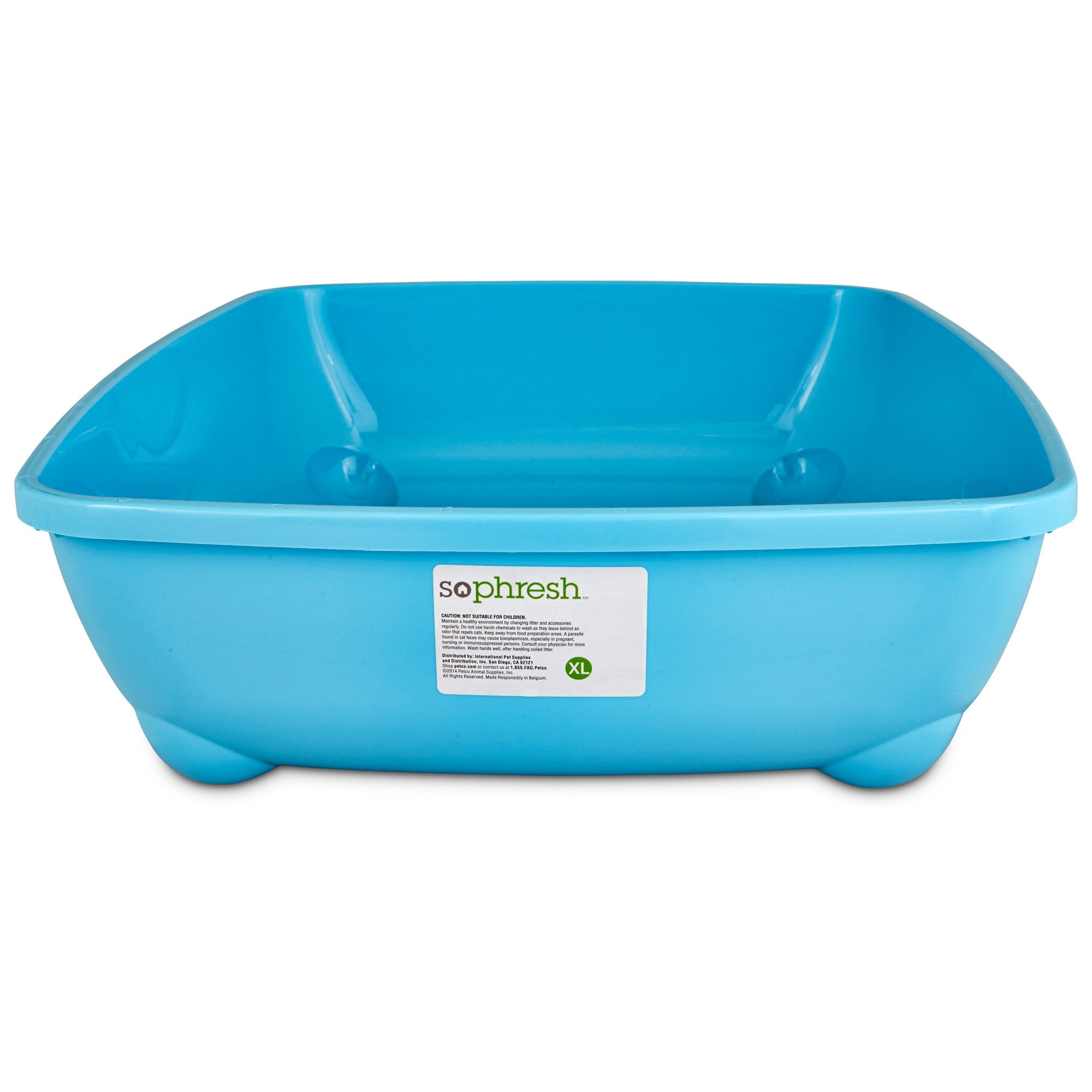 So Phresh Aqua Blue X-Large Open Litter Box