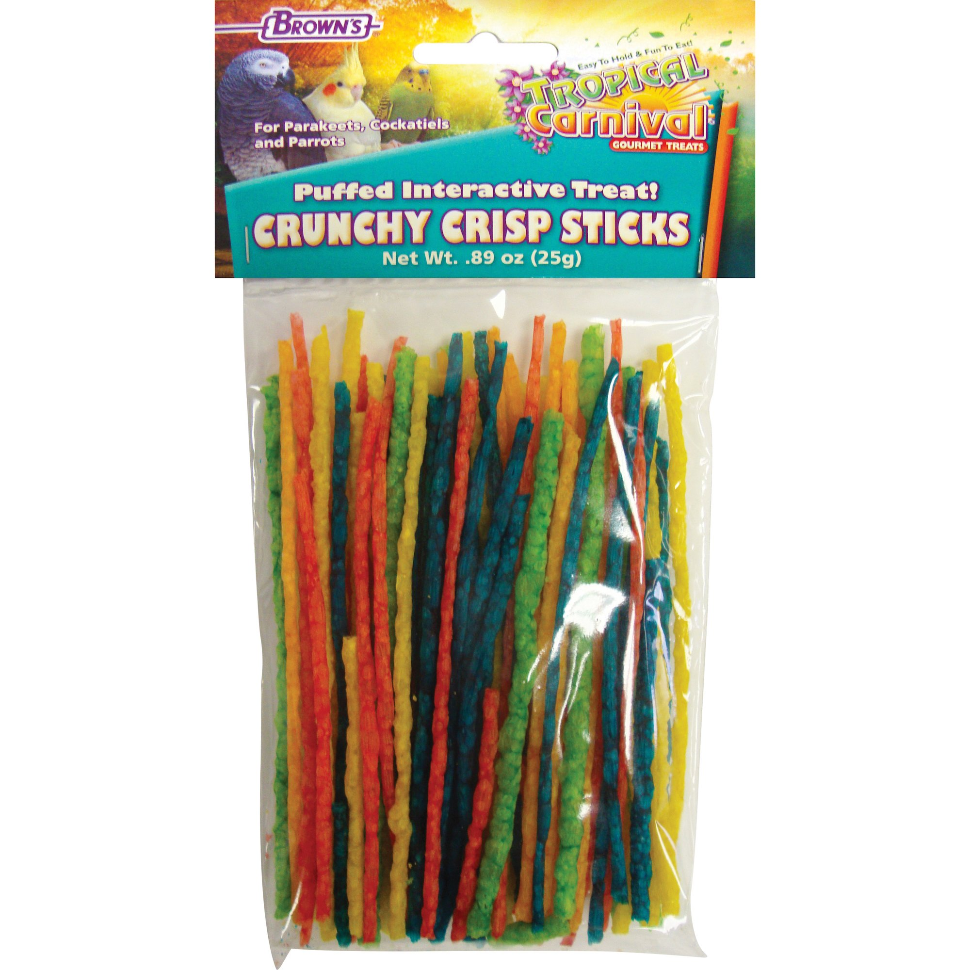 Brown's Tropical Carnival Crunchy Crisp Bird Treat Sticks