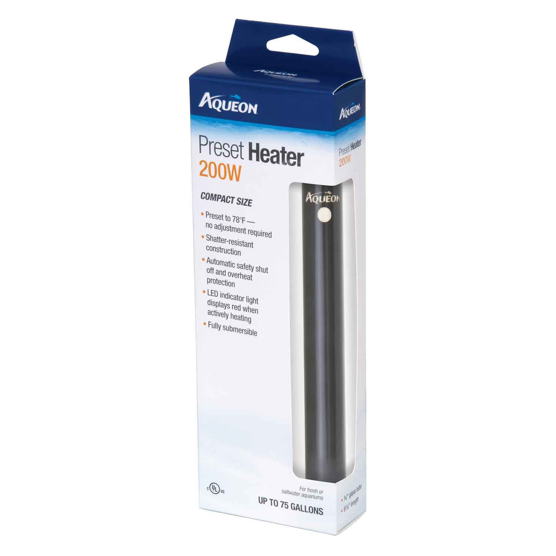 aqueon preset heater 200w petco