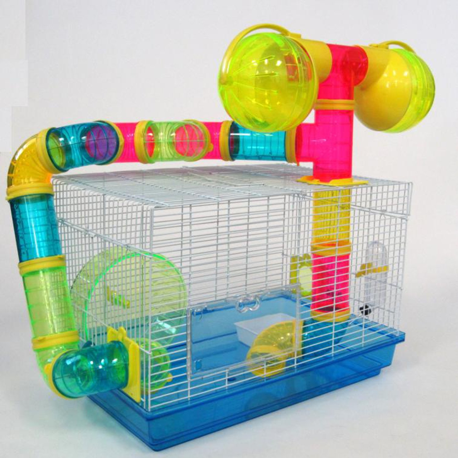 YML Tubed Hamster Cage in Blue