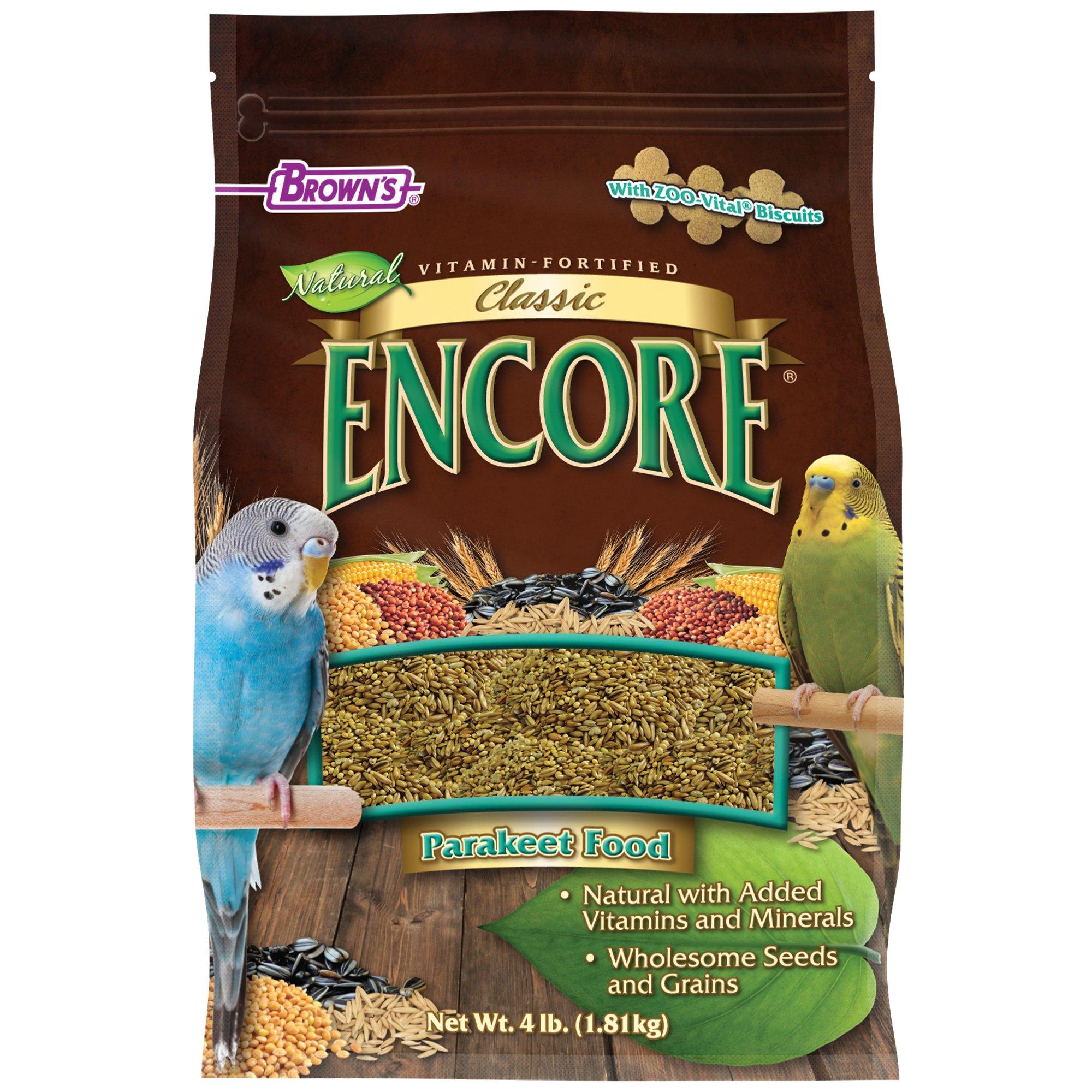 Brown's Encore Classic Parakeet Food