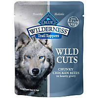Blue Buffalo Wilderness Trail Toppers Chicken Wild Cuts Dog Food Topper, 3 oz., pack of 24