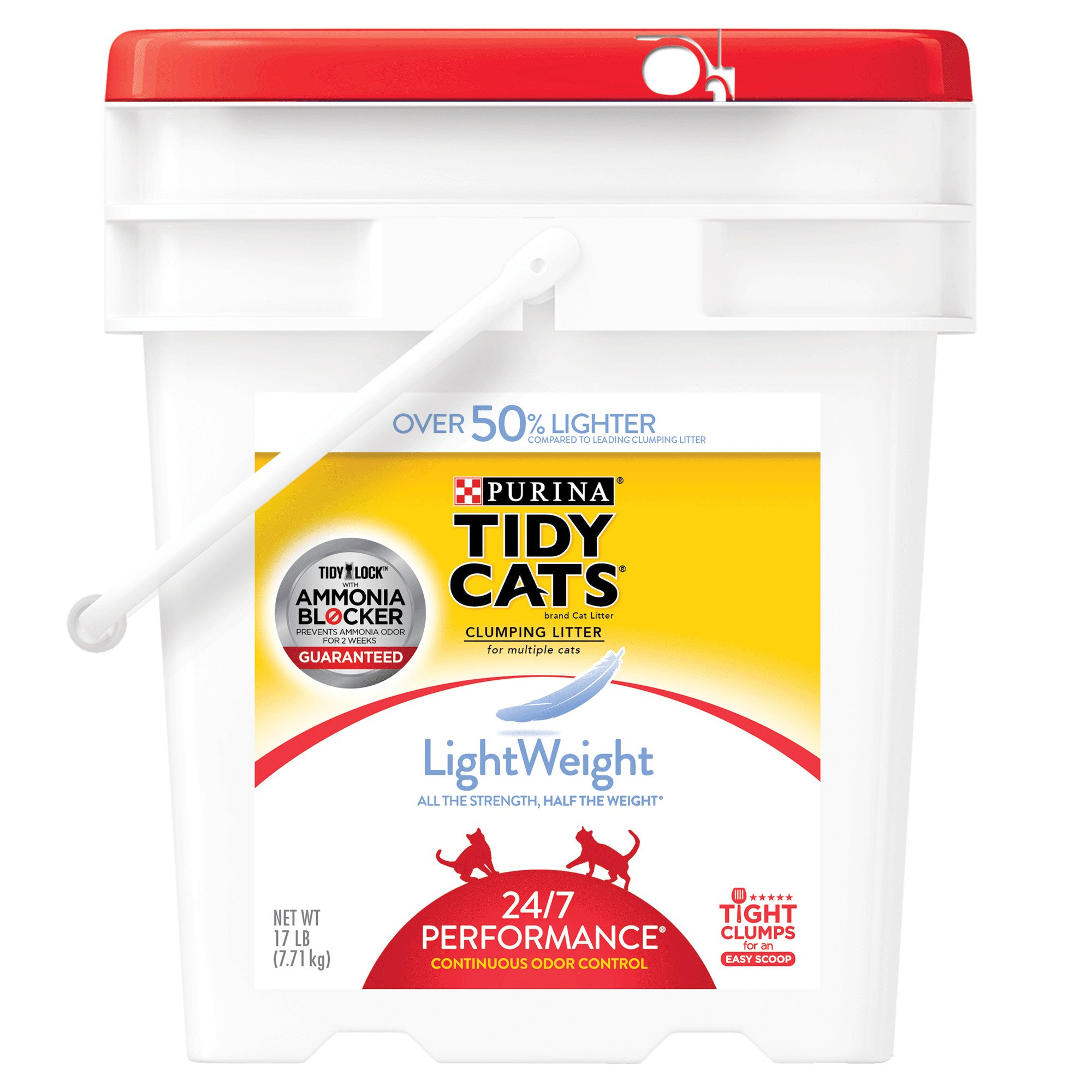 Purina Tidy Cats LightWeight Clumping Litter 24/7 Performance for Multiple Cats