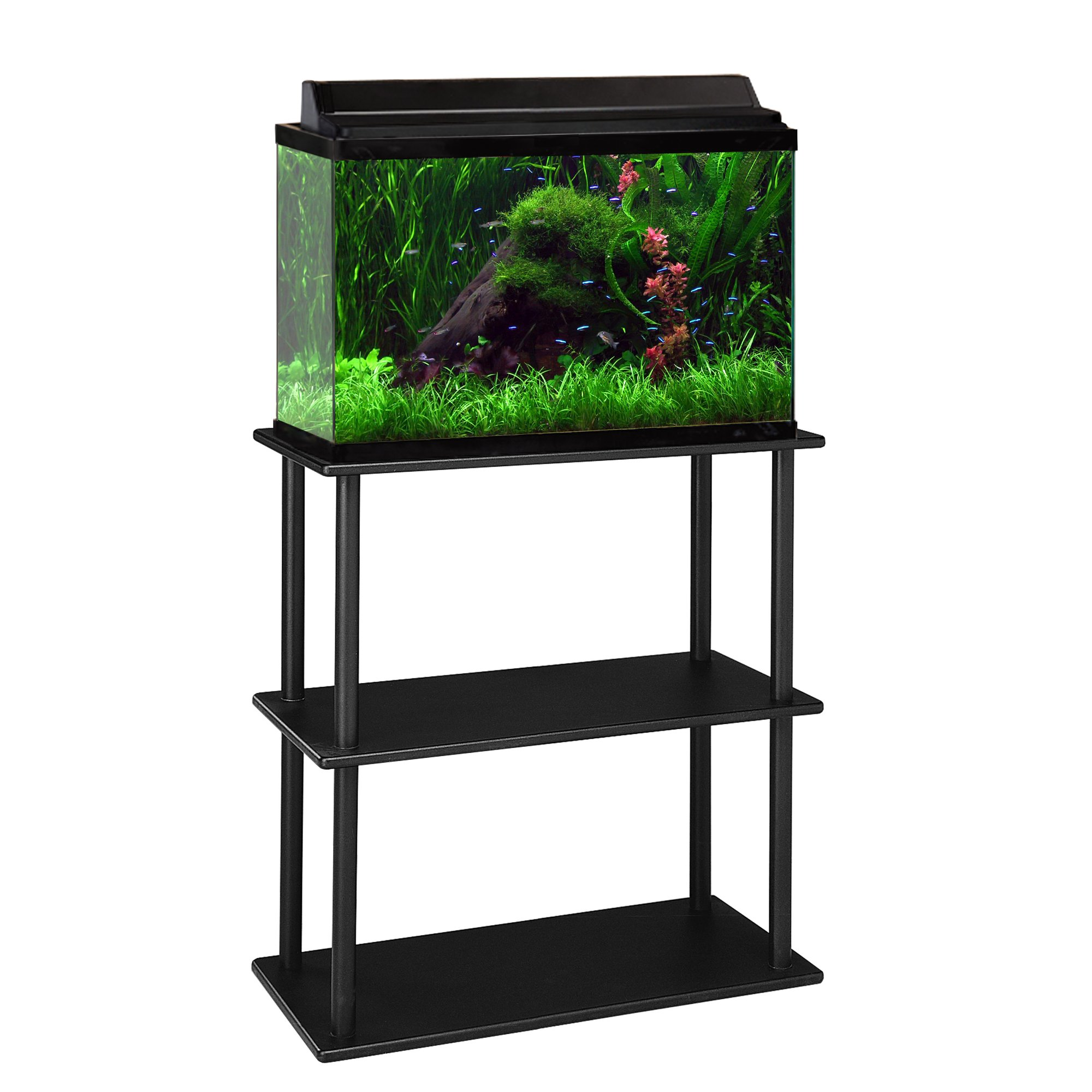 Aquatic fundamentals 10 20 gallon aquarium stand with for 50 gallon fish tank dimensions
