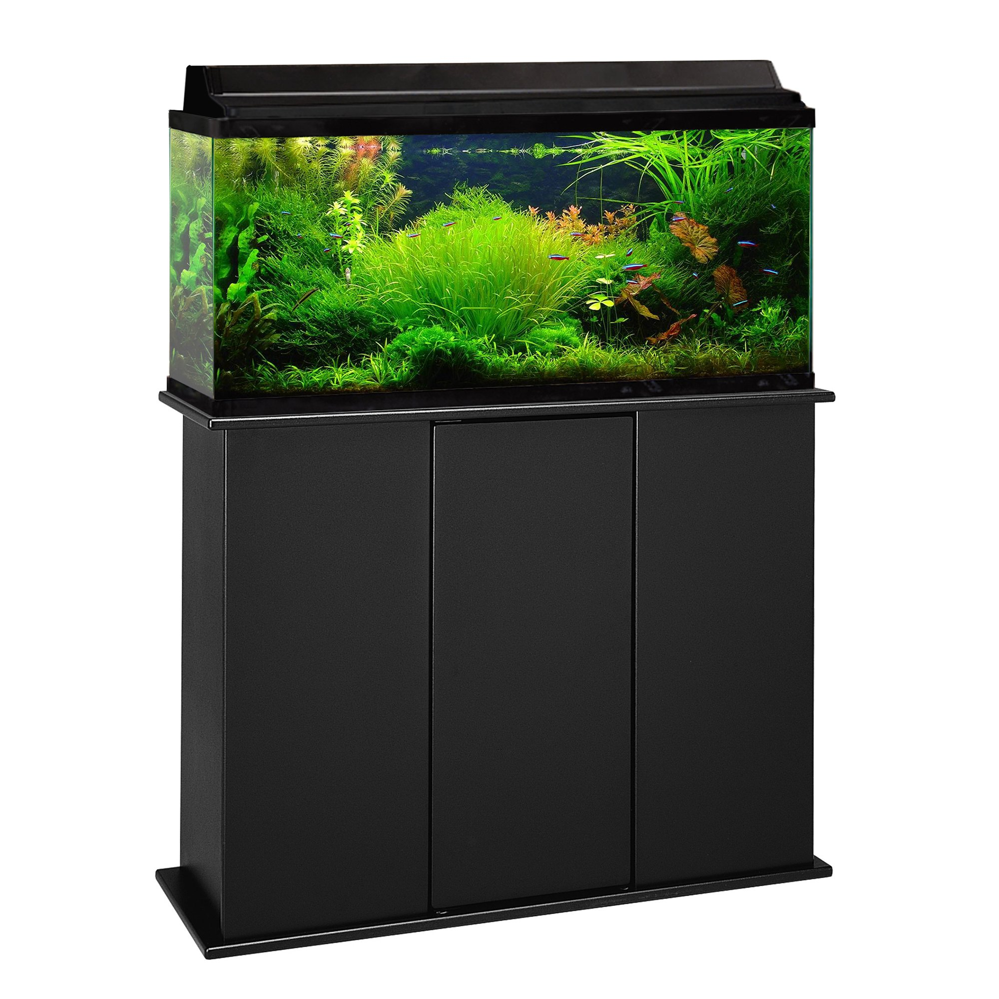 Aquarium stand petco fundamentals black scroll aquarium Thirty gallon fish tank