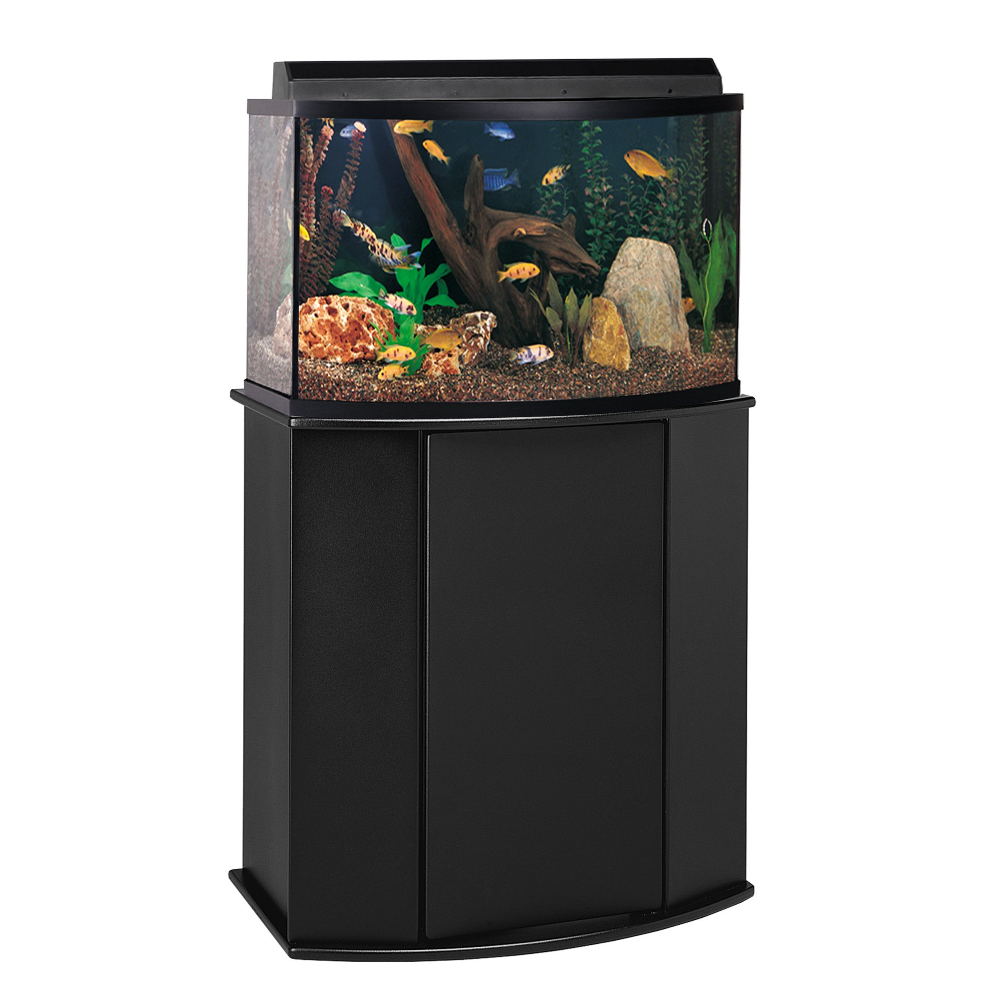 Aquarium stand petco fundamentals black scroll aquarium for 38 gallon fish tank