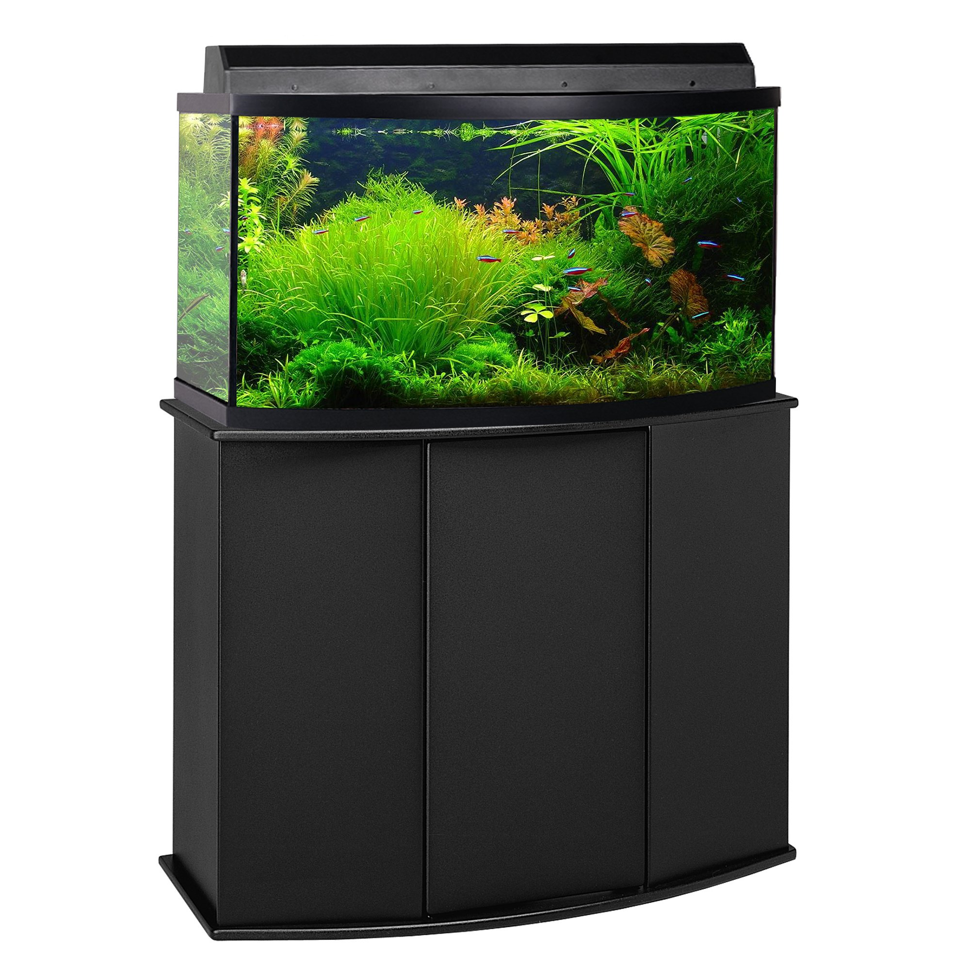 Aquarium stand petco fundamentals black scroll aquarium for 55 gallon fish tank petco